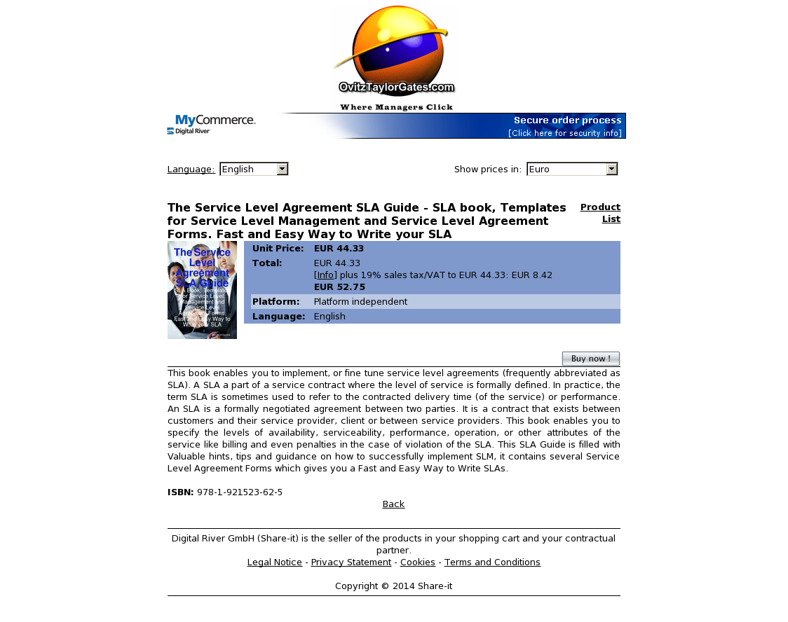 The Service Level Agreement Sla Guide Sla Book Templates For