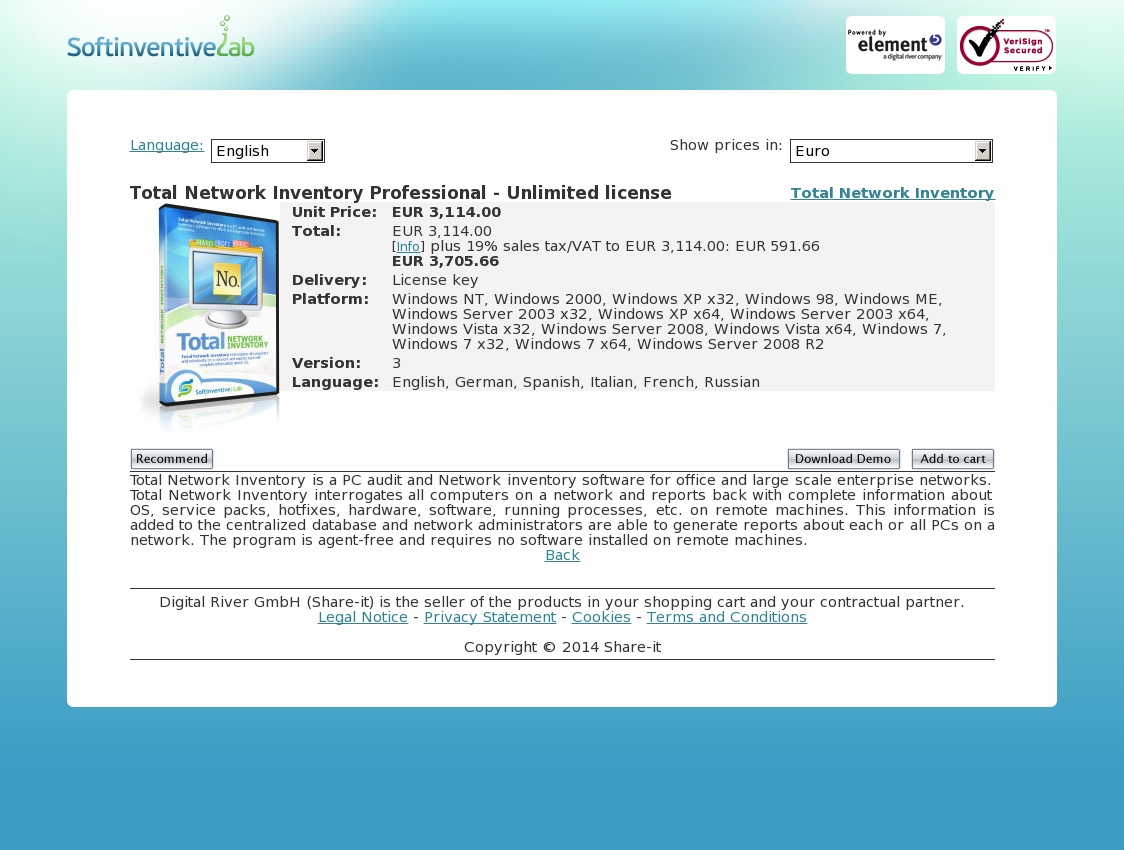 Total Network Inventory Professional - Unlimited license