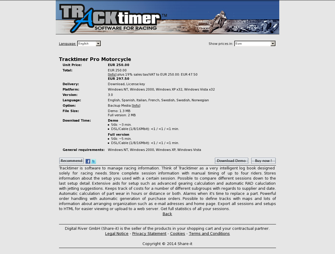 Tracktimer Pro Motorcycle