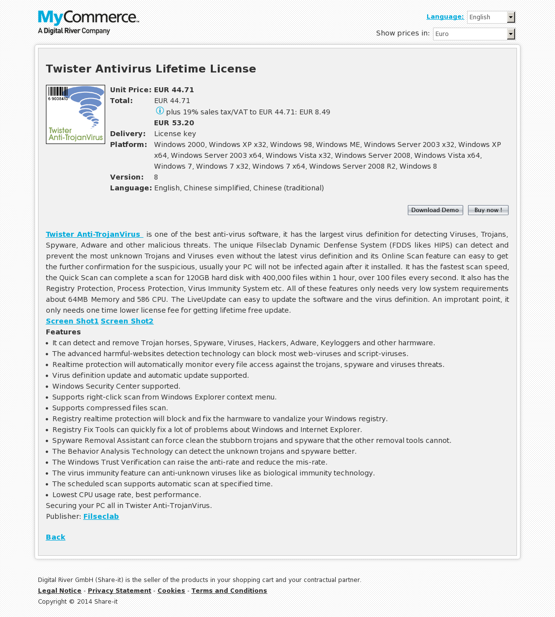 Twister Antivirus Lifetime License
