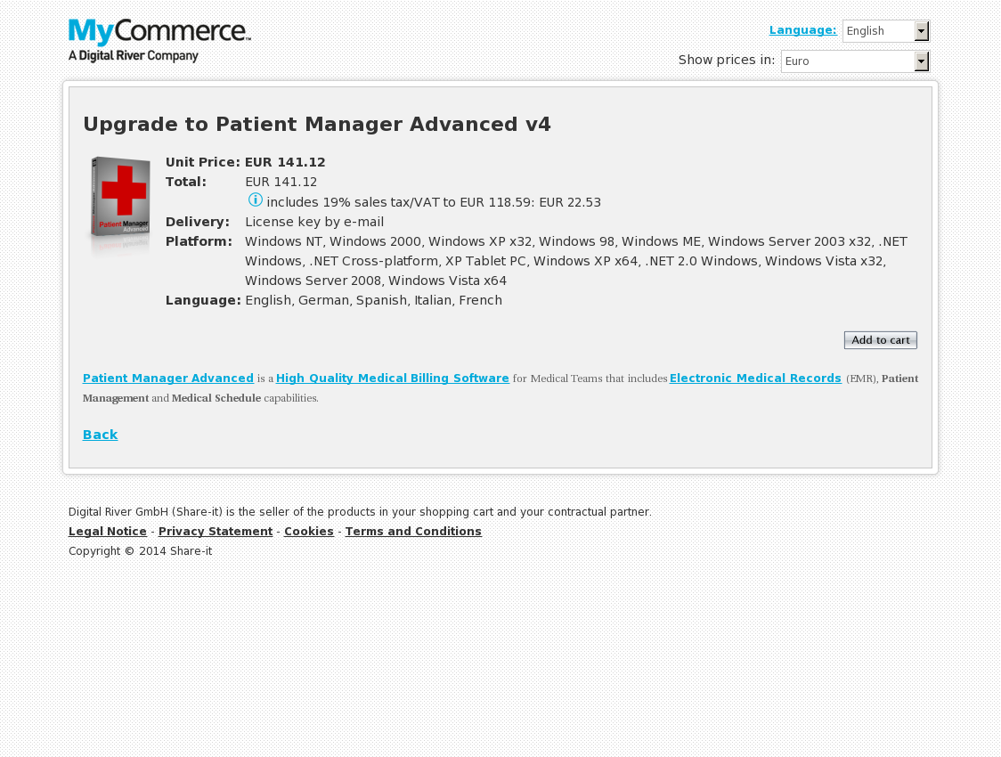 Upgrade to Patient Manager Advanced v4