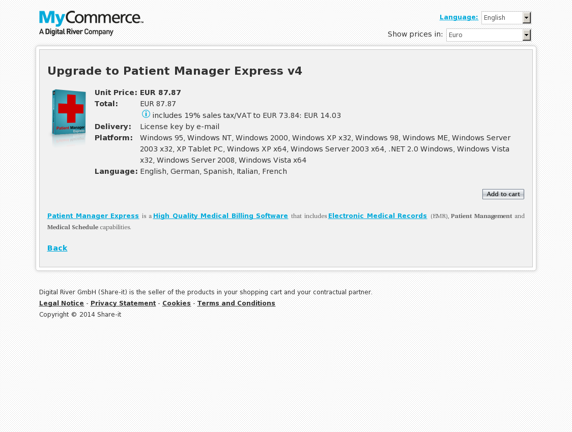 Upgrade to Patient Manager Express v4