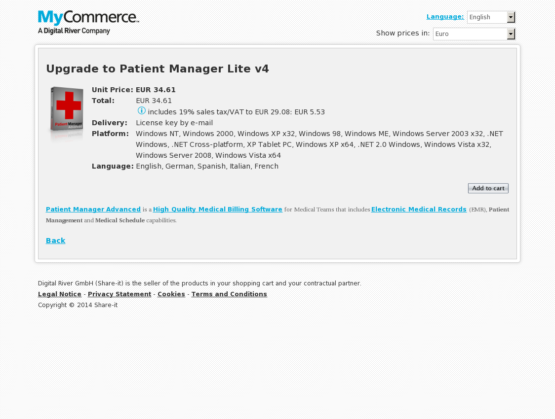 Upgrade to Patient Manager Lite v4