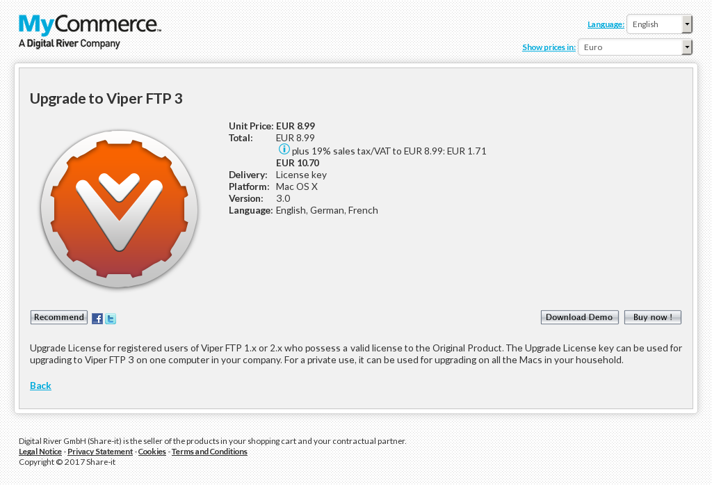 Upgrade to Viper FTP 3