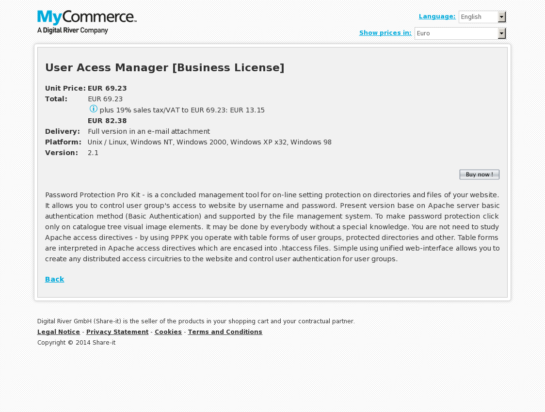 User Acess Manager [Business License]