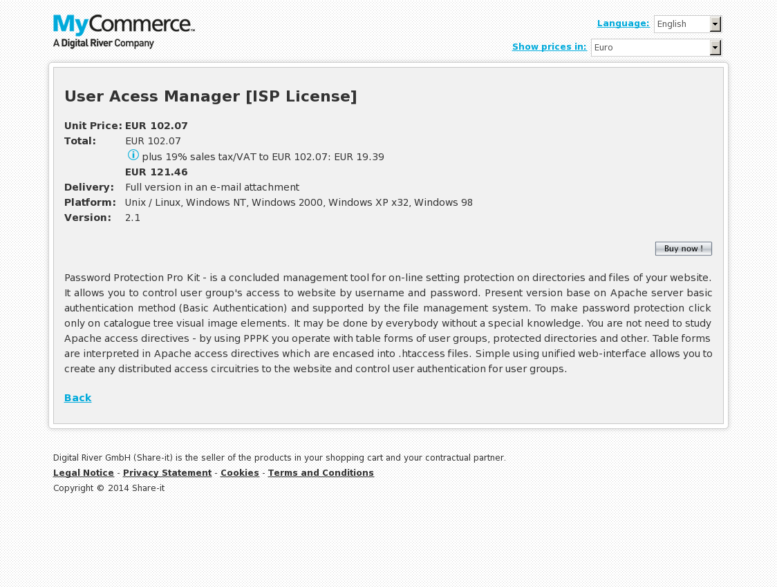 User Acess Manager [ISP License]