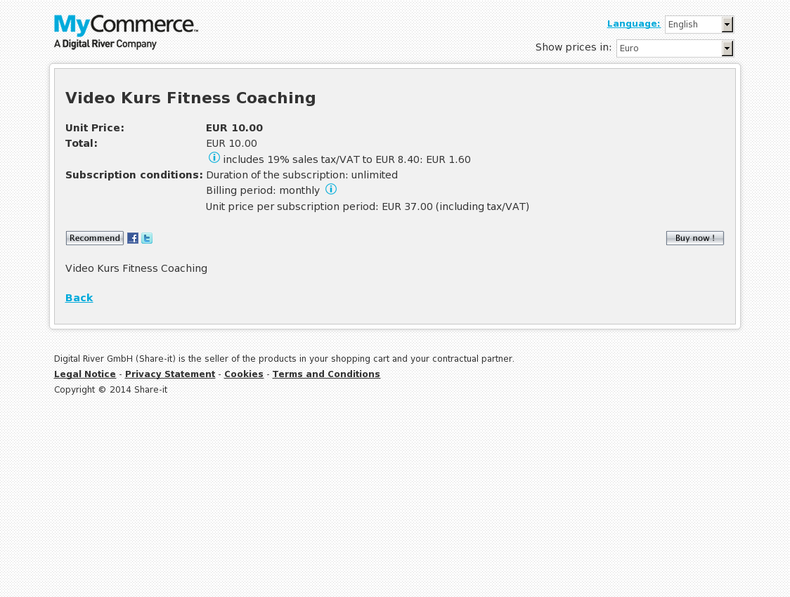 Video Kurs Fitness Coaching