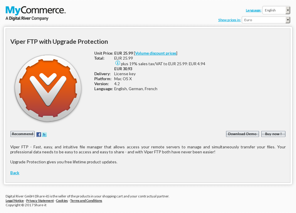 Viper FTP with Upgrade Protection