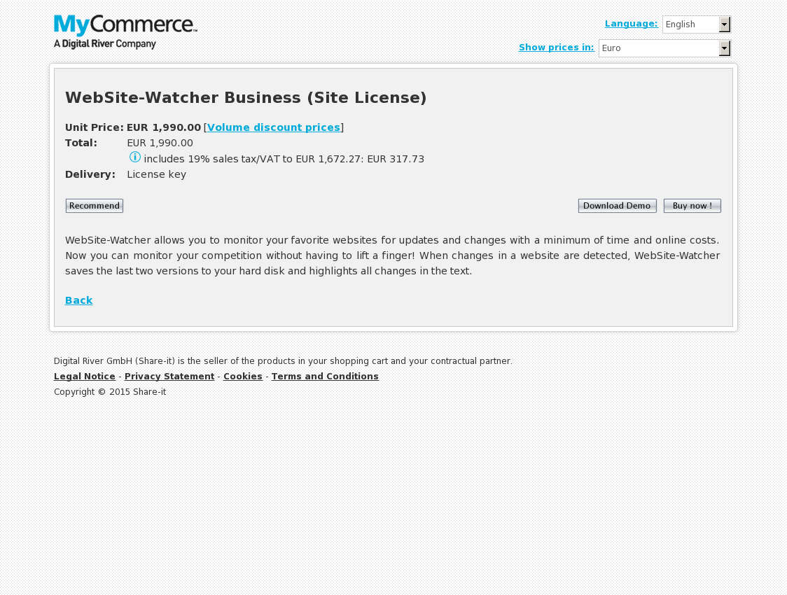 WebSite-Watcher Business (Site License)