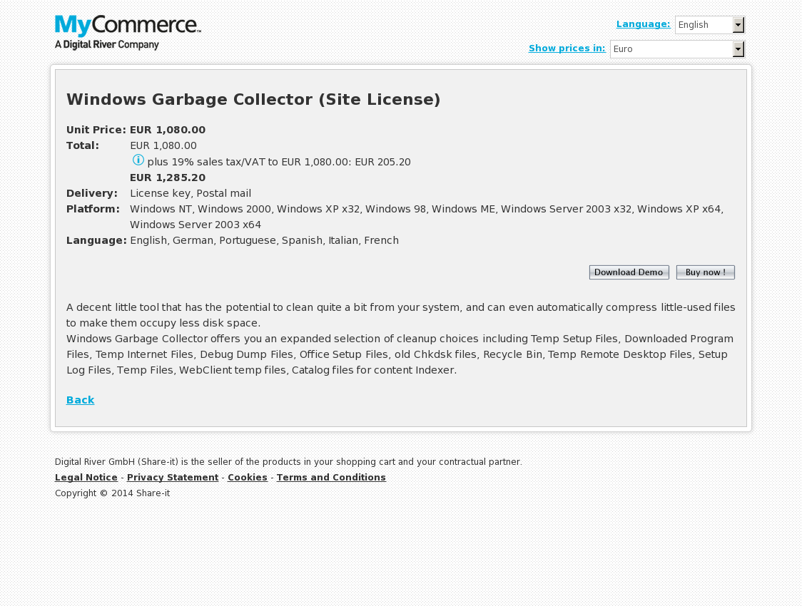 Windows Garbage Collector (Site License)