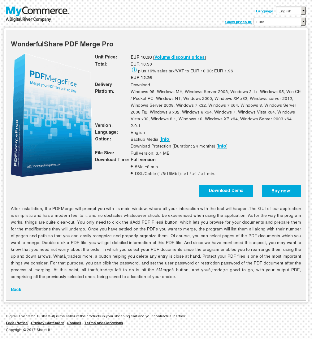 WonderfulShare PDF Merge Pro