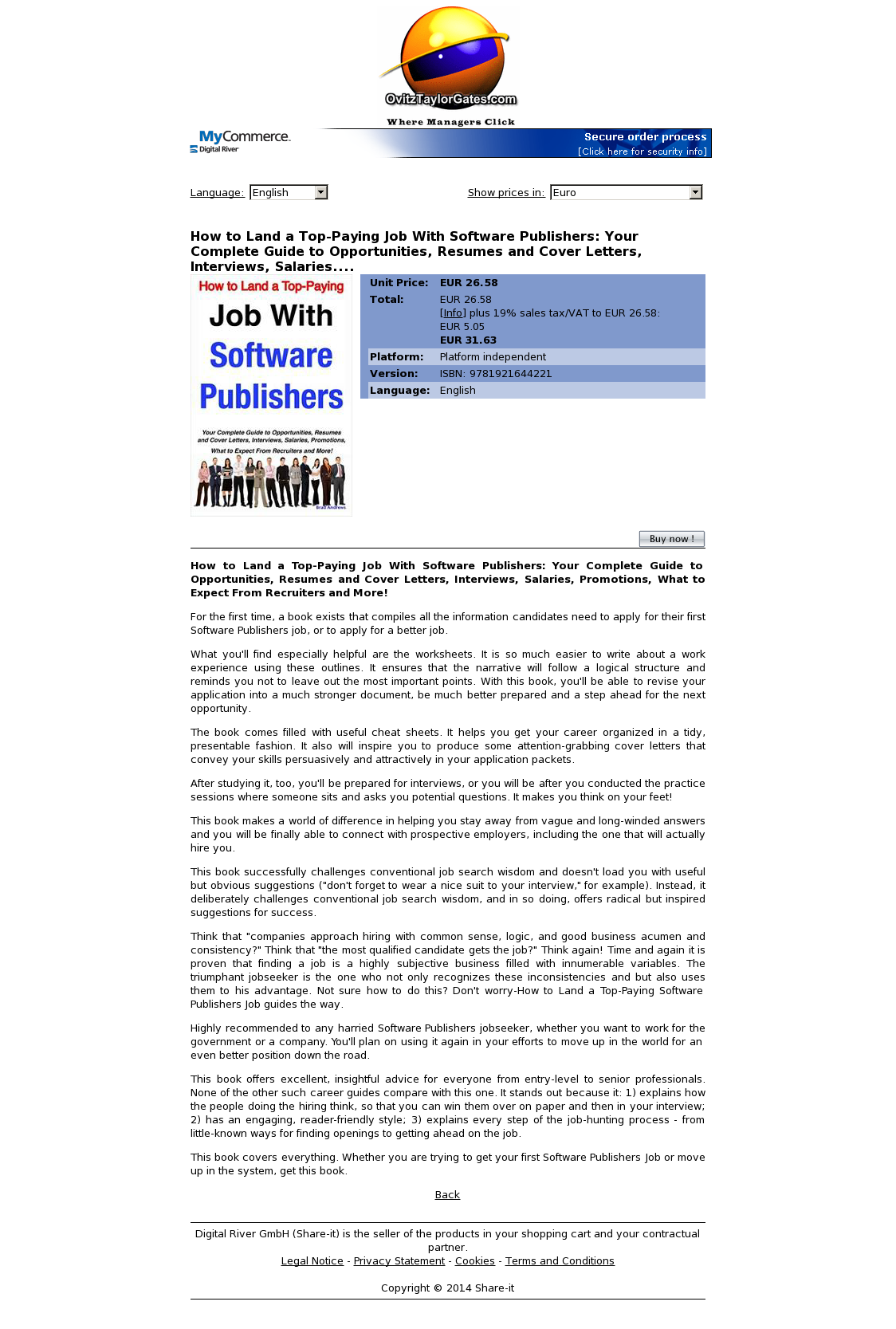 How to Land a Top-Paying Job With Software Publishers: Your Complete Guide to Opportunities, Resumes and Cover Letters, Interviews, Salaries....