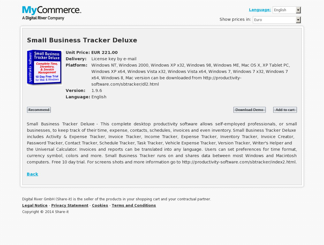 Small Business Tracker Deluxe