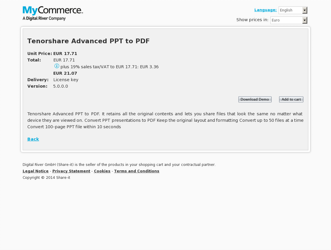 Tenorshare Advanced PPT to PDF