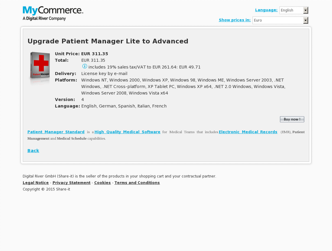 Upgrade Patient Manager Lite to Advanced
